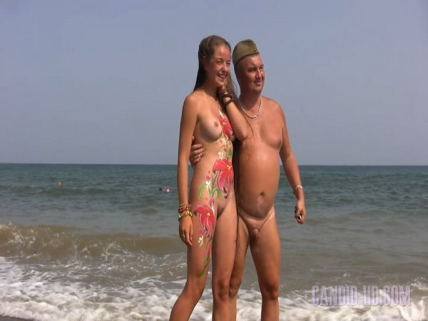 Koktebel bodypainting (family nudism, family naturism, young naturism, naked girls, naked boys)