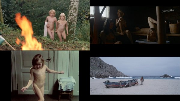 Сollection of fragments #73 (young naturism, naked boys, naked girls)
