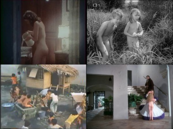 Сollection of fragments #74 (young naturism, naked boys, naked girls)