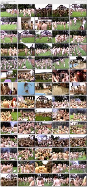 A Gathering of Nudists (family nudism, family naturism, young naturism, naked boys, naked girls)