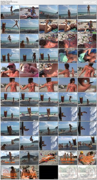 Jump for joy! The summer's here (family nudism, family naturism, young naturism)