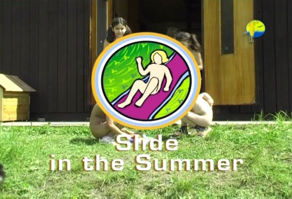Slide in the Summer (family nudism, family naturism, young naturism, naked boys, naked girls)